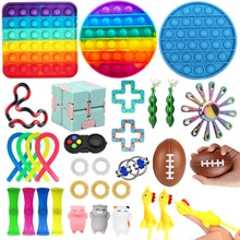 Push Bubble Sensory Fidget Toys Deformation Rope Toys Marbles Ball Autism ADHD Anxiety Therapy Toys