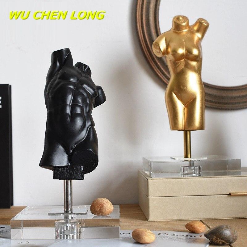 CHEN WU LONG VENUS busto de chica y niño, escultura artística nórdica creativa de cuerpo humano, estatua de resina artesanal para decoración del hogar R5390
