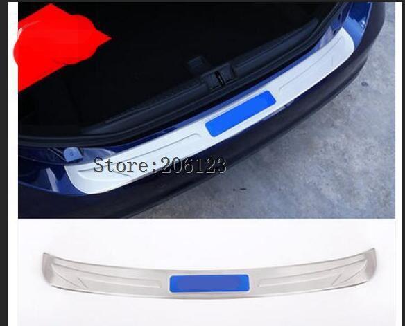 304 Steel Silver Rear Outside Bumper Plate Cover Protector Trim For Alfa Romeo Giulia 2017 Car Accessories