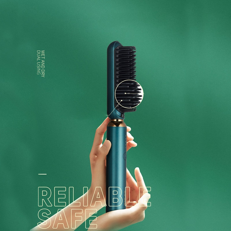 Xiaomi InFace Straight Hair Comb Straight Hair Curling Stick Negative Ions Protect Hair Ceramic Heat Stable Constant Temperature enlarge