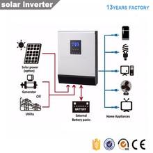 Off grid hybrid solar inverter 3kva DC24V 220V reine sinus welle solar inverter konverter solar laderegler