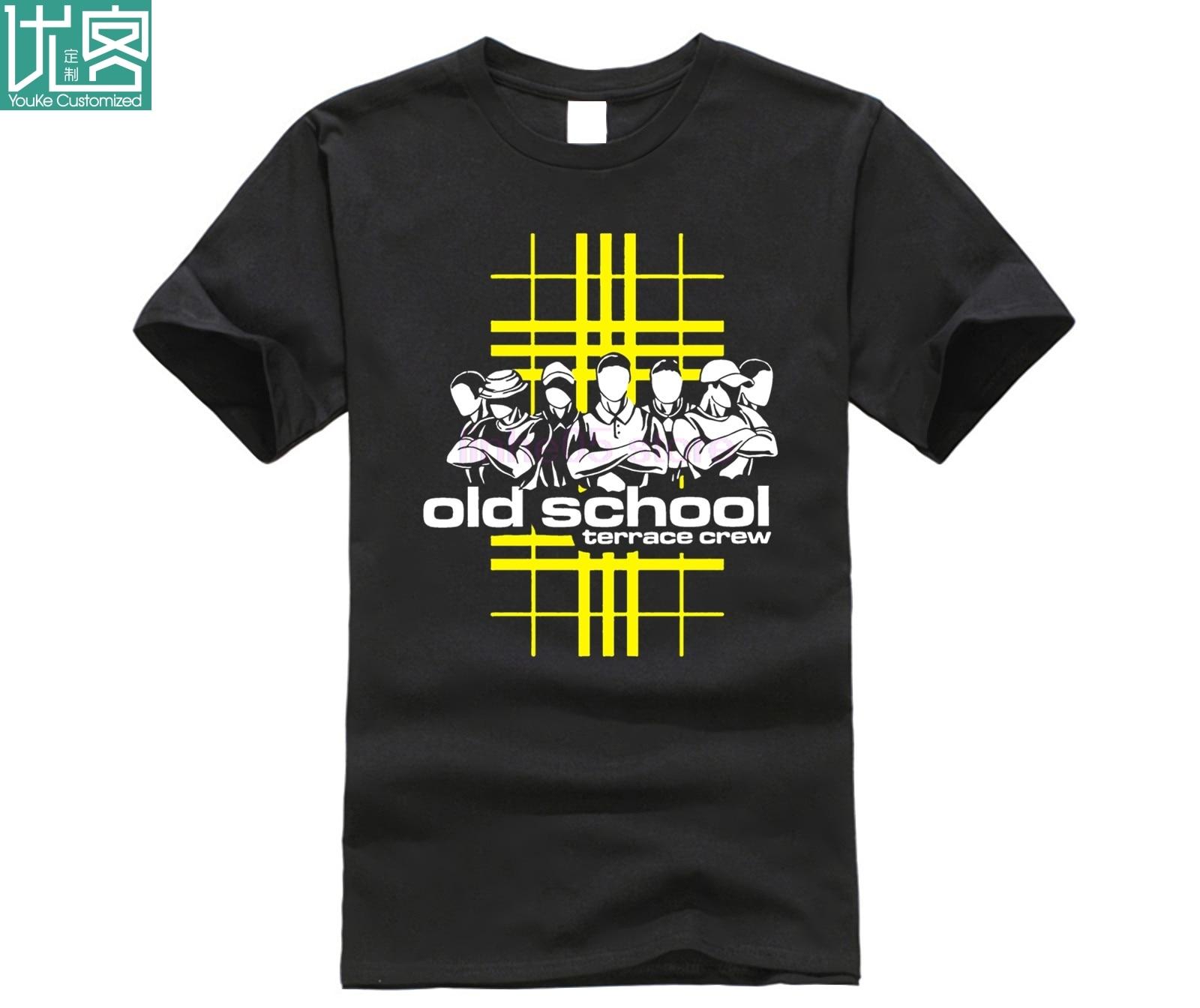 Новинка 2020, модная мужская футболка для старой школы, Повседневная футболка с коротким рукавом