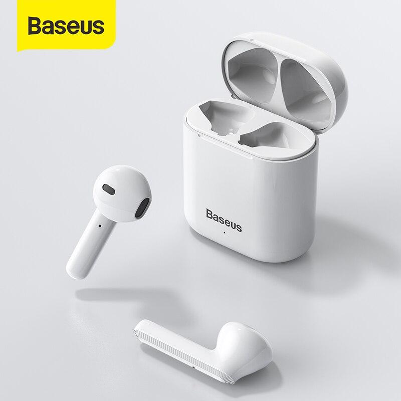 Fones de Ouvido sem Fio Fones de Ouvido Esporte com Microfone para Todo o Telefone Baseus Bluetooth Jogos Estéreo Inteligente Tws