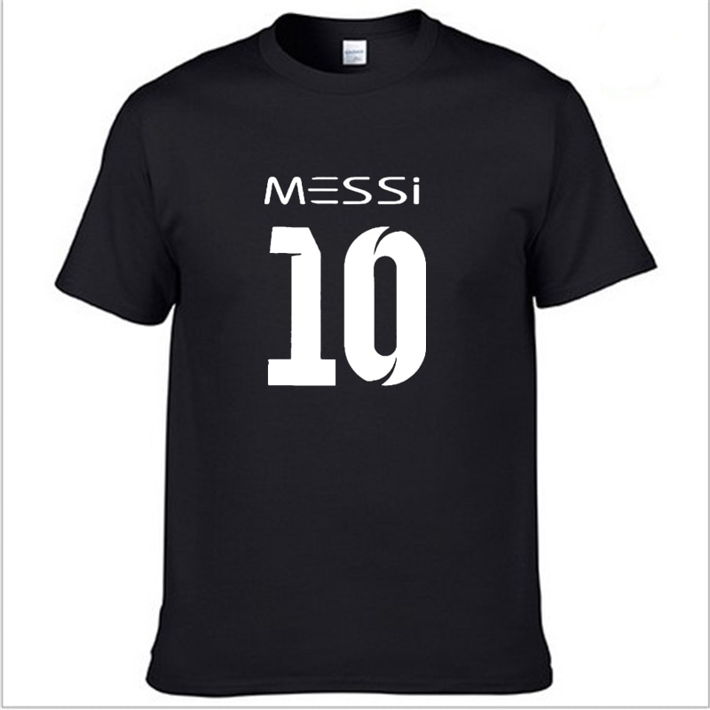 Camiseta para hombre Messi 10 impresa camiseta para hombre verano cuello redondo Casual moda algodón manga corta alta calidad Harajuku hiphop tee Tops