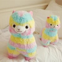 25cm colorful alpaca plush doll baby cute animal doll soft cotton stuffed doll home soft toys sleeping mate stuffed plush toys