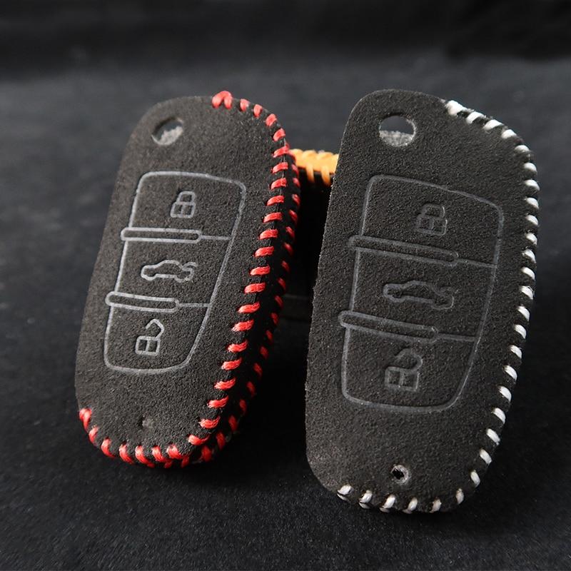 Поворотный Меховой чехол для автомобильного ключа, умный чехол для ключа, чехол для ключа-брелка, отделка для AUDI A6 TT A3 Q3 A1 A4 Q7 S3 A7 B6 B7 B8 8P 8V 8L TT