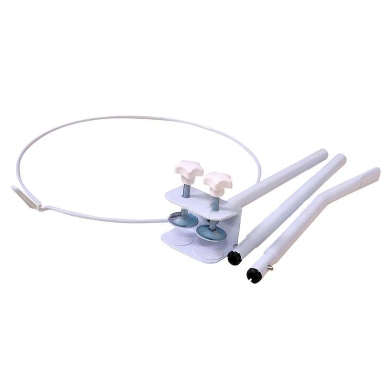 Firme mosquito net conjunto de suporte ajustável clip-on montagem berço dossel rack titular a2ub