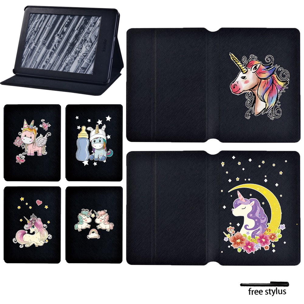 Tablet Case for Amazon Kindle Paperwhite 1/2/3/Paperwhite(5th/6th/7th/10th Gen)/Kindle(10th /8th Gen) 6 Inch Unicorn Cover Case