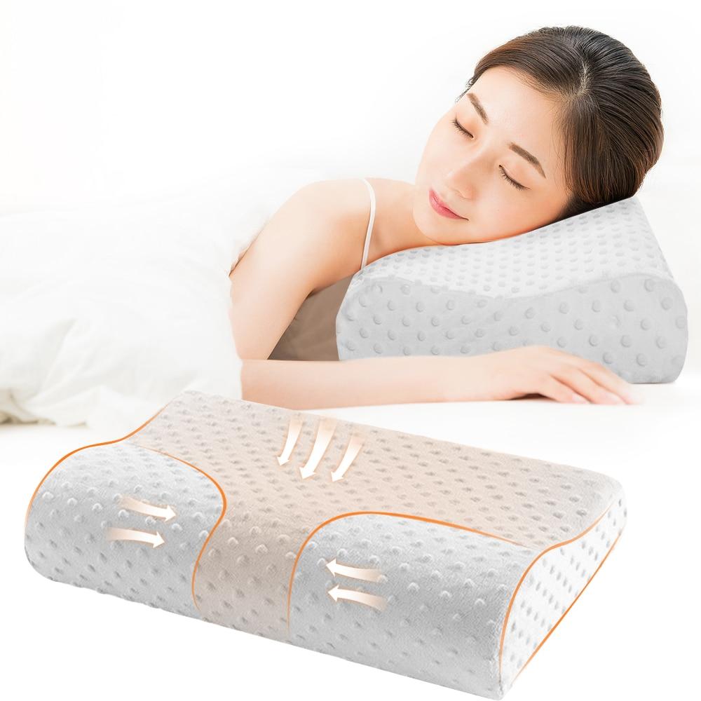 3 Colors Memory Foam Pillow Orthopedic Pillow Latex Neck Pillow Fiber Slow Rebound Soft Pillow Massager New