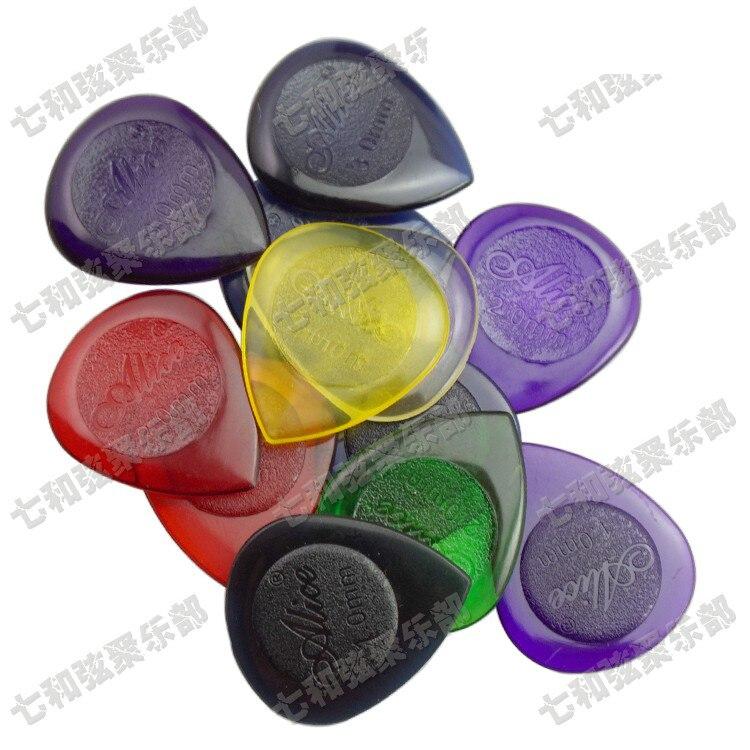 18 Pcs Mix Color Small Water-drop Transparent Durable Clear Guitar Bass Picks Plectra Plectrums 1.0mm &2.0mm &3.0mm