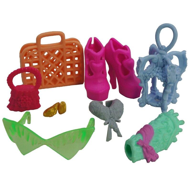 Zapatos, sombrero, gafas, bolsos, paquete de accesorios para Barbie, monstruo alto, BJD,...