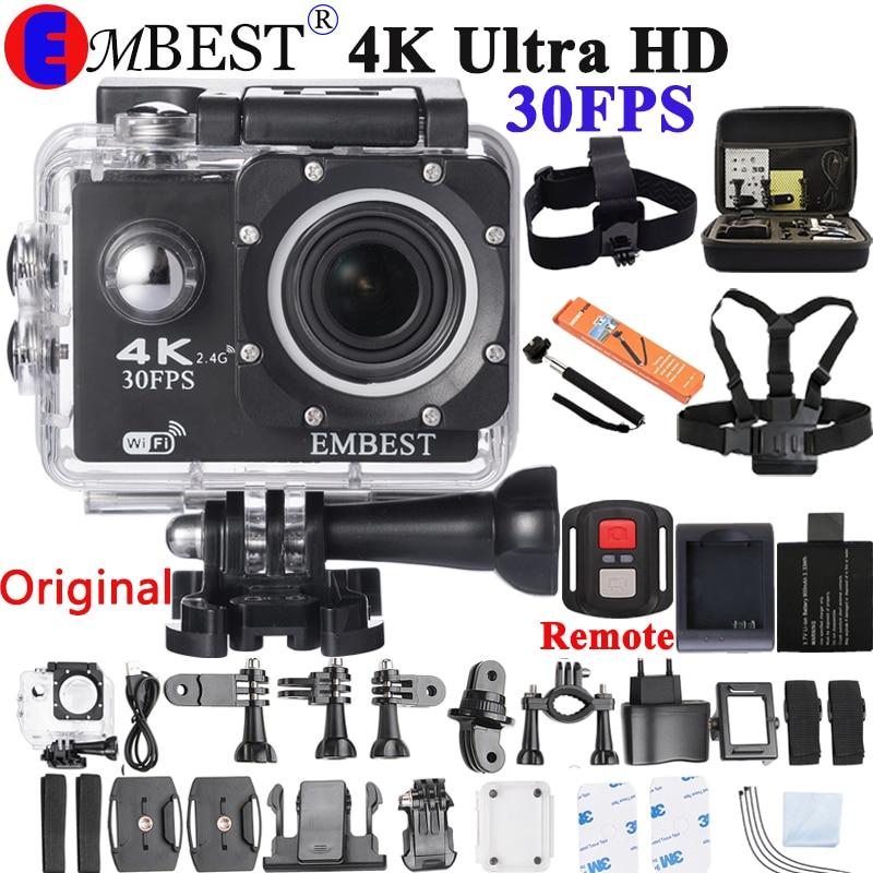 Экшн-камера 4K F60/F60R с пультом дистанционного управления, Wi-Fi 2,0 LCD 170D Len, камера для шлема, Подводная Водонепроницаемая видеокамера 1080P @ 60fps