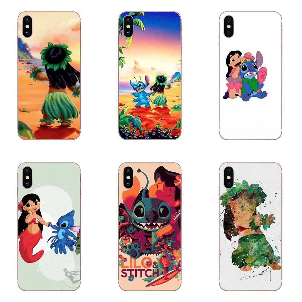 De Teléfono suave Capa para Galaxy J1 J2 J3 J330 J4 J5 J6 J7 J730 J8 2015, 2016, 2017, 2018 mini Pro mejores amigos Lilo Stitch