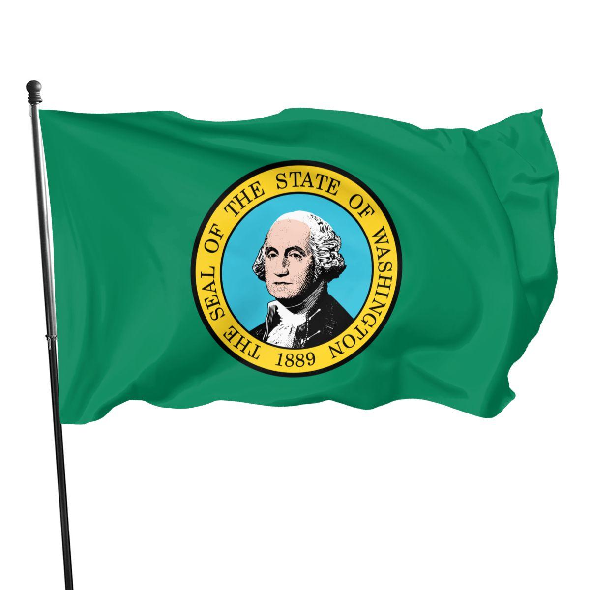 Флаг Штата Вашингтон 90x150 см, декоративные баннеры для внутренней и внешней отделки