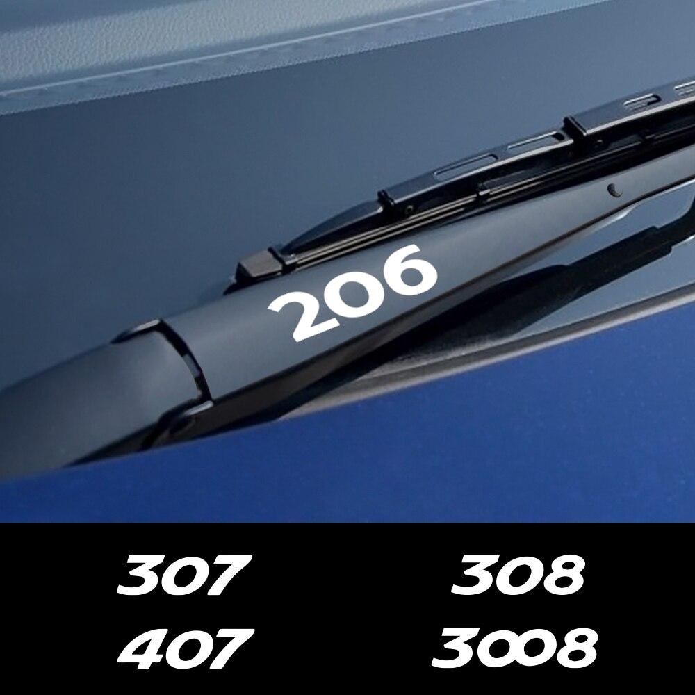 4PCS estilo de coche ventana limpiaparabrisas pegatinas para Peugeot 307, 206, 308, 407, 207, 3008, 208, 508, 2008, 301, 408, 607, 4008, 5008 accesorios de Auto