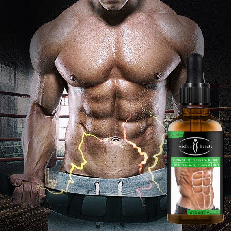 30ML Powerful Abdominal Muscle Essence Oil Stronger Muscle Strong Anti Cellulite Burn Fat Product Weight Loss Essence Oil Men burn the fat feed the muscle