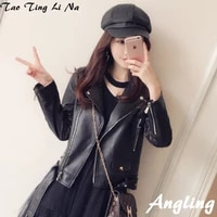 2021 women spring genuine real sheep leather jacket r2