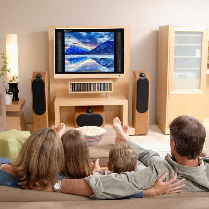 24 بوصة عالية الوضوح تلفاز LCD التلفزيون المحمولة الصغيرة مع باس جودة الصوت 110-240 فولت 100% جديد
