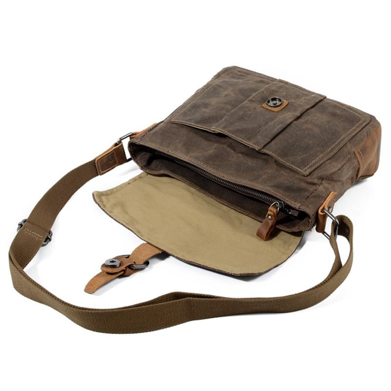 Crossbody رجال الكتف حقيبة للماء قماش حقيبة رجل عرضي رسول حقيبة