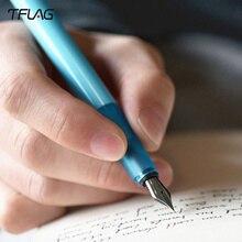 TFlag Kaco stylo plume ciel 0.3mm-0.4mm stylo décriture fluide Portable poche signature coloré stylo encre Sac stylo boîte pour étudiant stylo