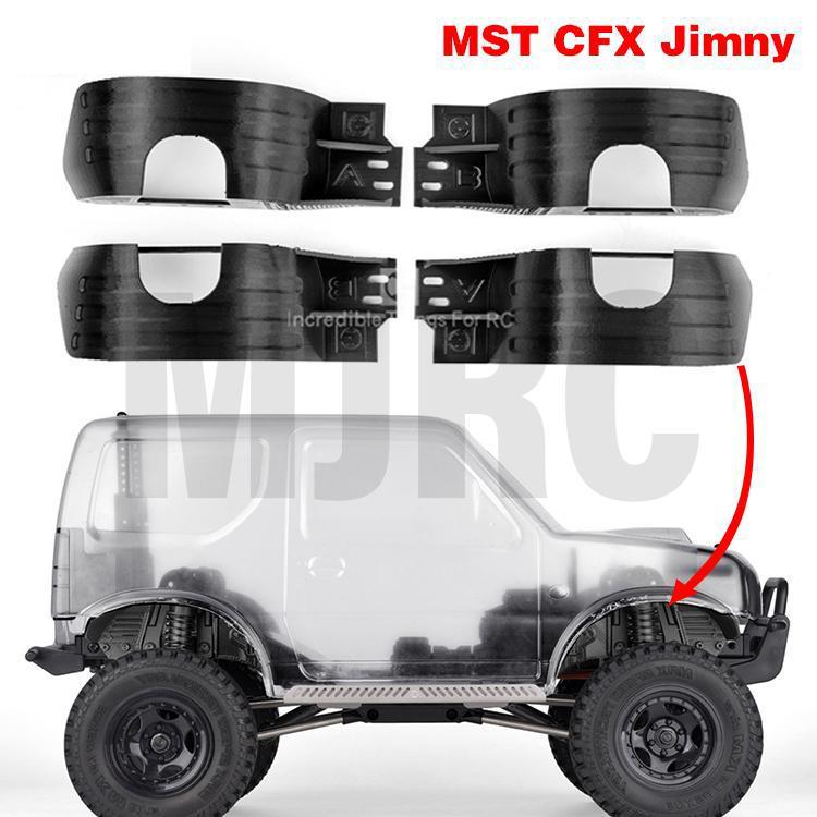 Jimny MST CFX RC-مصدات الطين ، طراز السيارة ، الديكور الخارجي ، ملحقات السيارة ، إصدار مطبوع ثلاثي الأبعاد