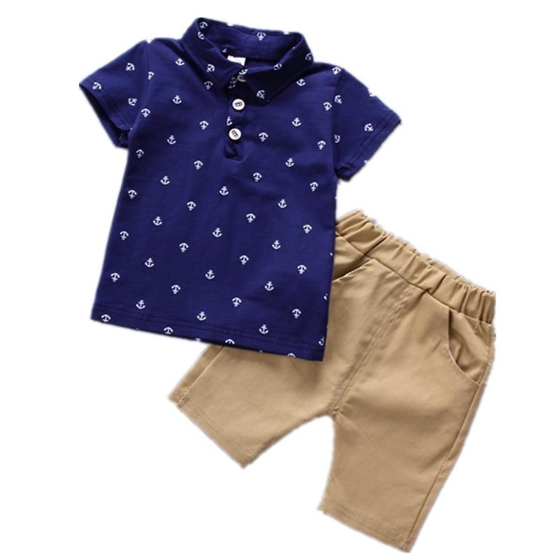 Комплект одежды для маленьких мальчиков, комплекты детской одежды, футболка и шорты для мальчиков, штаны, комплекты одежды из 2 предметов, де...