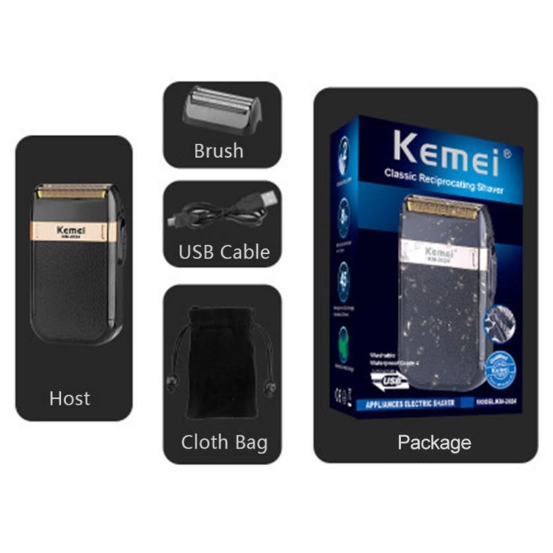 Afeitadora eléctrica USB para hombres, recortadora recargable para Barba, afeitadora, máquina de afeitar portátil, máquina cortadora de barba, herramientas
