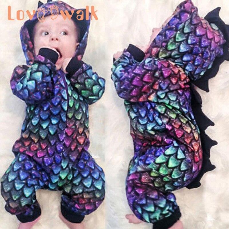Disfraz para niños, bebés, niñas, lindo mono de dinosaurio en 3D, saco de dormir, mono Meisjes klending, mameluco para bebé Sastre recién nacido