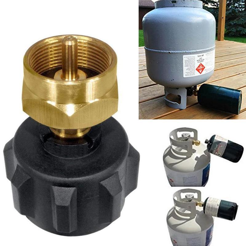 Conversor de horno adaptador de cilindro de botella de Gas cabeza de conversión conector de estufa de Camping al aire libre