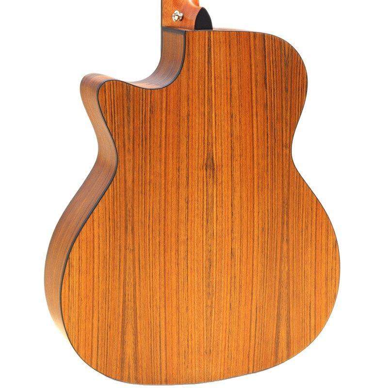 Full Zebra Wood Acoustic Guitar 40 Inch 6 Strings Folk Guitar Natural Color Wood Guitar Matte Finish Cutaway Acoustic Guitarra enlarge