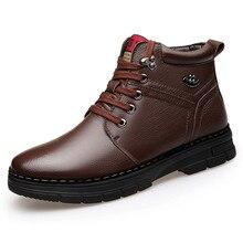 Automne-hiver grande taille 38-44 bottes de neige chaussures pour hommes en Style Vintage chaussures pour hommes décontracté mode haute coupe à lacets chaud Hombre
