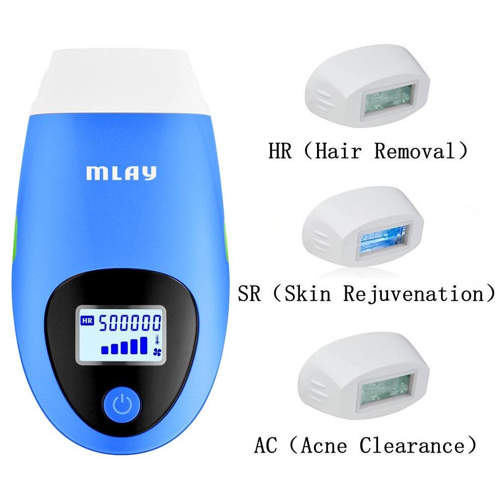 IPL laser hair removal machine Mlay T3 depilador a laser 500000 Flashes Permanent Hair Removal Machine Electric epilator a Laser enlarge
