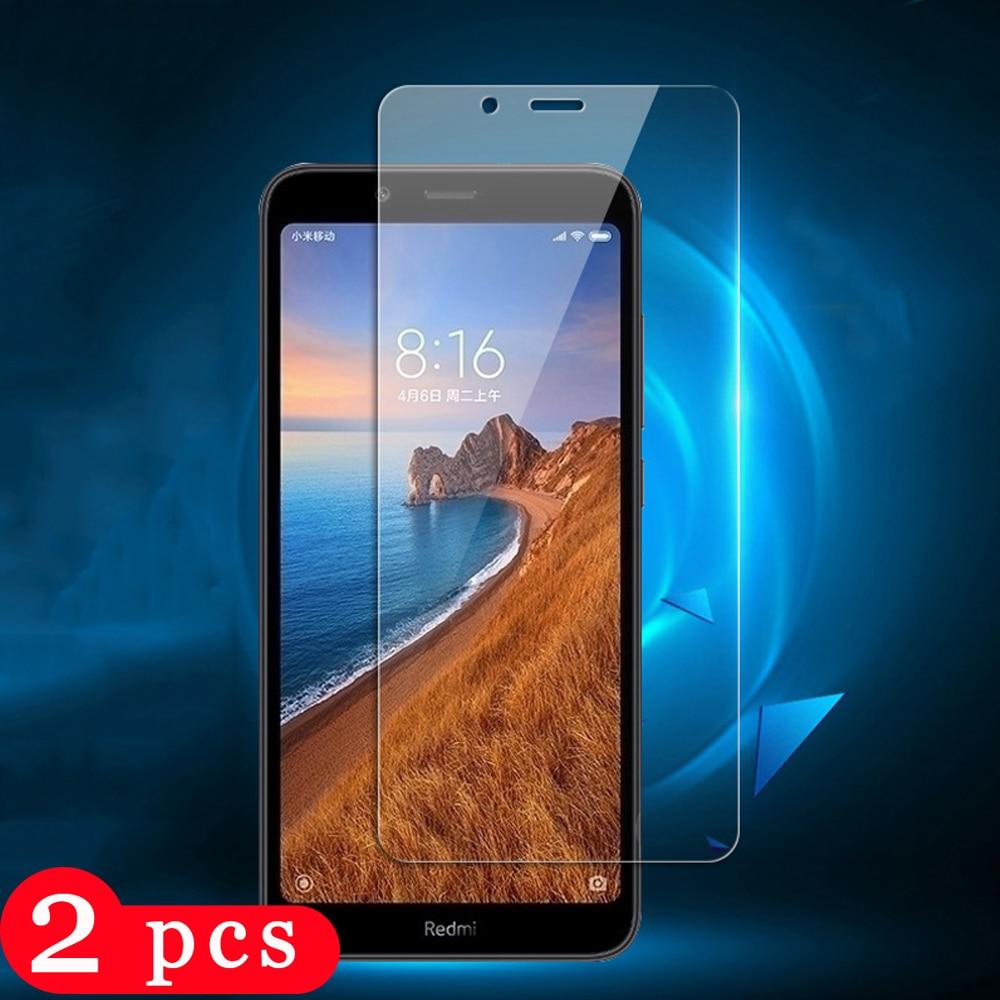 2Pcs película protetora para xiaomi redmi note 9s 8 8t 7 6 pro protetor de tela de vidro temperado telefone redmi 8A 7A 6A sobre o vidro