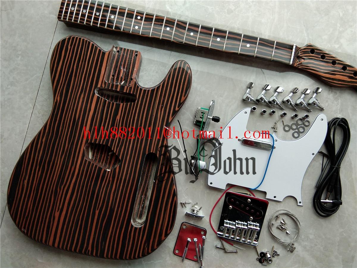 New Semi-Finished Electric Guitar,Technology Body&Neck&Fingerboard Chrome Hardware Guitar Kit BJ-432