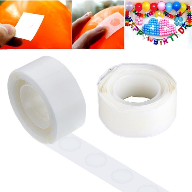 100 Uds./rollo de pegamento para globos cinta punto decoración de fiesta herramienta necesaria para la boda