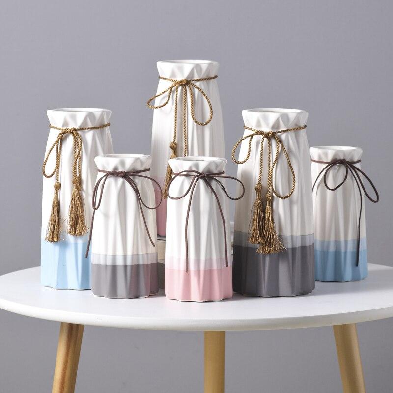 Jarrones de cerámica para la decoración del hogar... Jarrón hermoso... Decoraciones enteren...