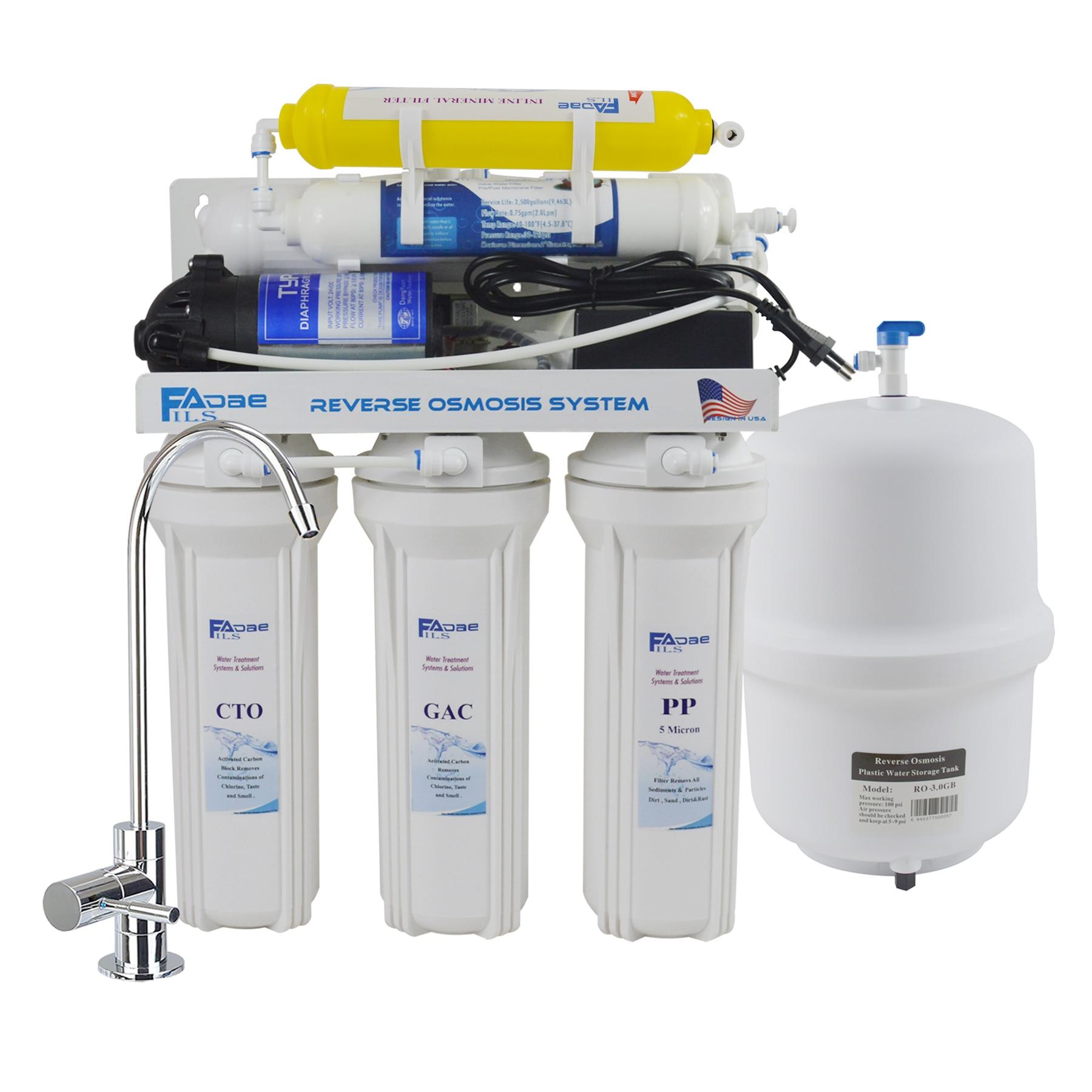6-etap pod zlewem odwróconej osmozy filtr wody pitnej System z remineralizacji filtr dla zwiększenia niezbędne minerały-50G