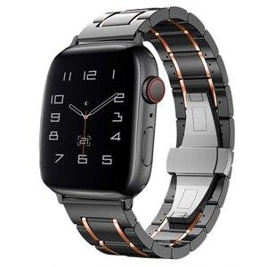 Fran-28v ceramics correa for apple watch 6 5 4 band 40mm 44mm bracelet 38mm 42mm watchbands for iwatch 3 2 strap pulseira belt