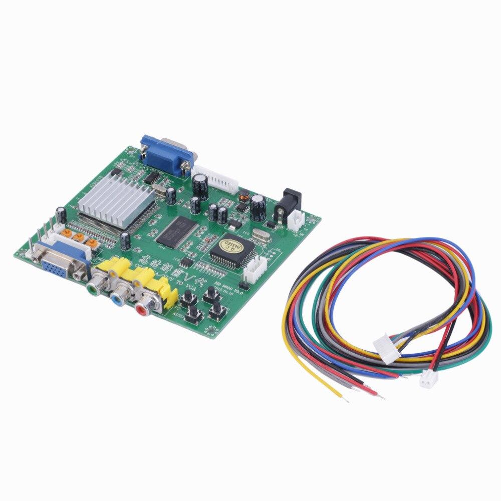 1 комплект новый RGB CGA EGA YUV К VGA HD видео конвертер доска HD9800 hd-конвертер плата GBS8200 неэкранированная защита