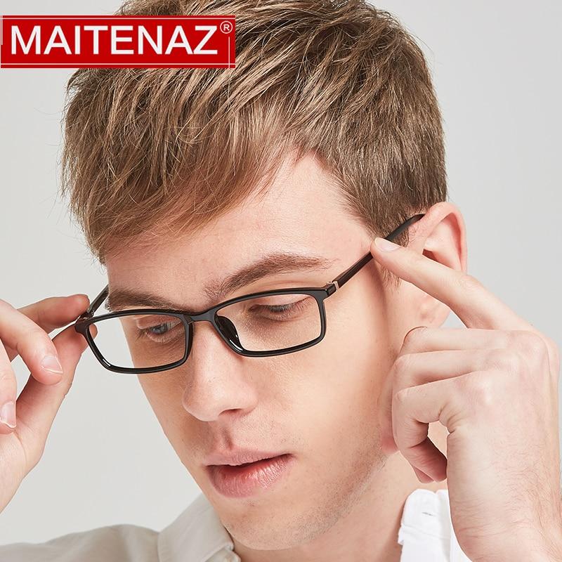 MAITENAZ Anti Fatigue Ultralight TR90 Prescription Eyeglasses  Myopia Hyperopia Glasses for Men Wome