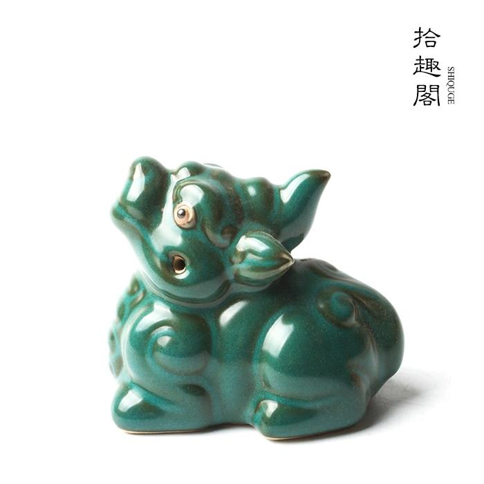 محظوظ تأثيث المواد تأثيث المواد الشاي الاكسسوارات صينية الشاي اليدوية الله الوحش والحيوان البرية الأسطورية