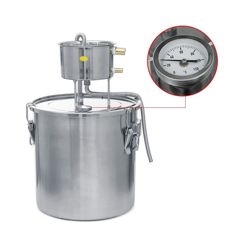 6L 22L 35L الرئيسية المشروب Moonshine النحاس الكحول تقطير غير القابل للصدأ المرجل المقطر للمياه الأساسية دائم النفط المشروب عدة