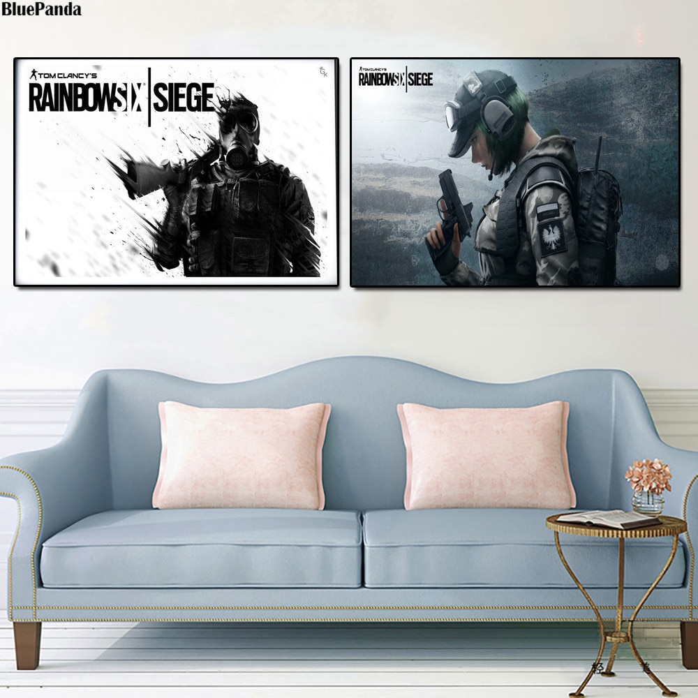 Arco-íris seis cartazes cerco jogo impressões em tela imagem quadros modulares para sala de estar cartaz na parede decoração da sua casa