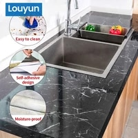 1m2m marble pattern kitchen oil and water proof wall stickers high temperature resistant kitchen bar desktop home decoration
