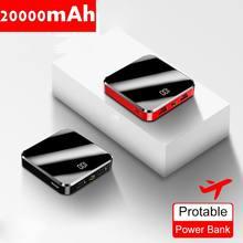 Mini Banque De Puissance 20000mAh Pour Xiaomi mi 9 Powerbank Portable Chargeur Double USB Charge Rapide Poverbank pour iPhone 11 8 7 plus