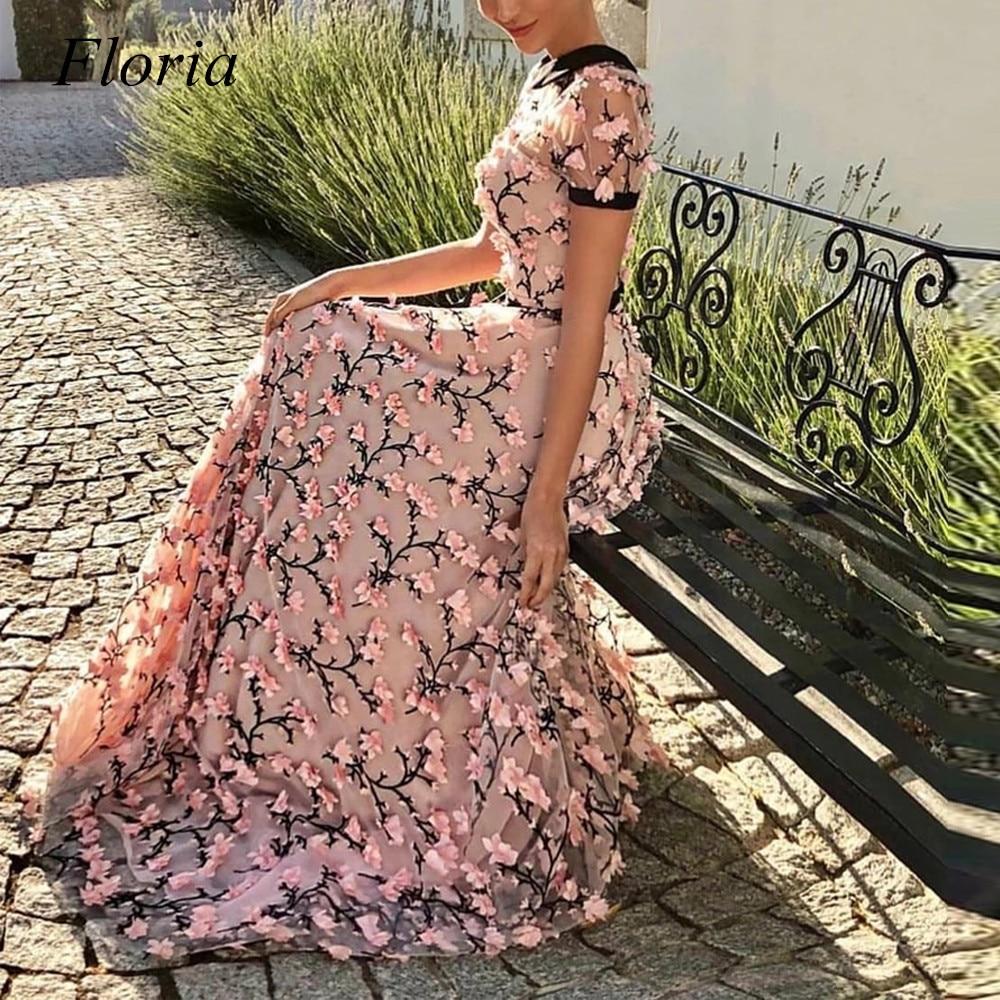 فستان سهرة طويل من Floria ملابس نسائية صيفية لحفلات الزفاف على شكل زهور فساتين عطلات مناسبة خاصة للخطوبة ملابس الحفلات الراقصة