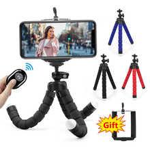 Новый гибкий губчатый мини штатив-Трипод для iPhone, Samsung, Xiaomi, Huawei, Мобильный телефон Смартфон штатив монопод для Gopro 9 8 7 камера