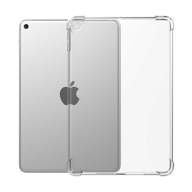 Caso transparente para ipad 9.7 2017 2018 ar 2 1 tpu silicone à prova de choque capa para ipad 10.2 2019 ar 10.5 pro 11 mini 3/4/5