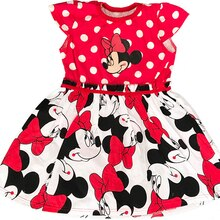 Girls Summer Dress Cartoon Print Minnie Dress Baby Girl Costume Princess Christmas Party Cute Tutu Dress 2-6Y Kids Clothing