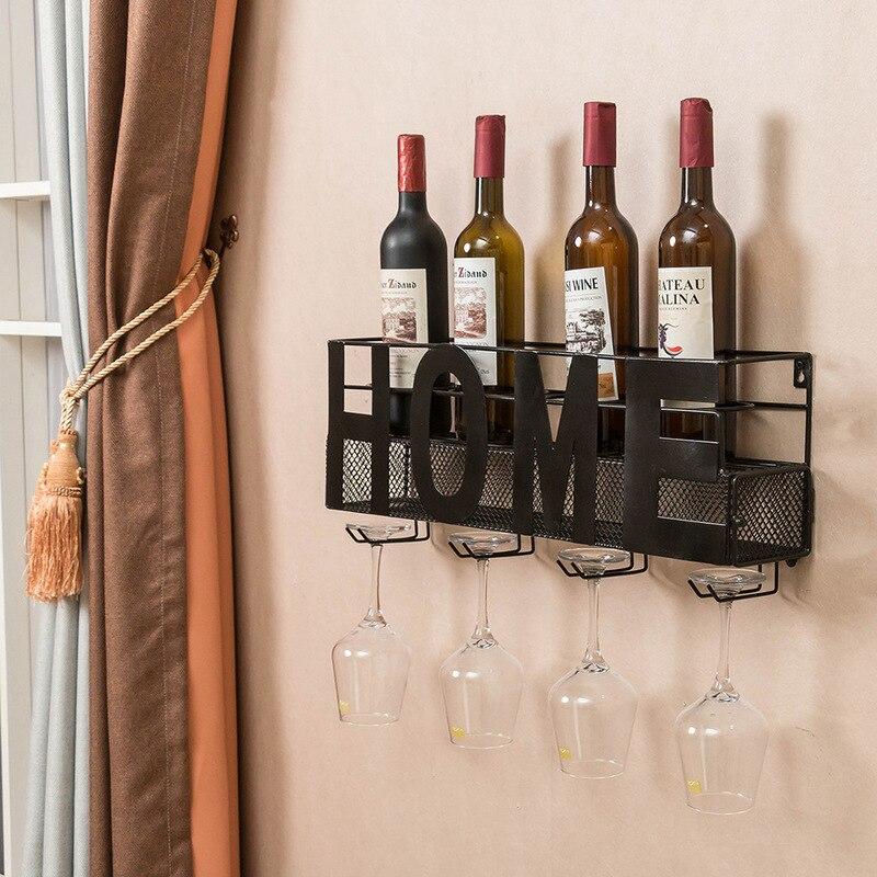 Estante de vino montado en la pared, recipiente de almacenamiento de corcho, soporte de copa de vino colgante, estante de almacenamiento de vino, accesorios de decoración de Bar de cocina para el hogar